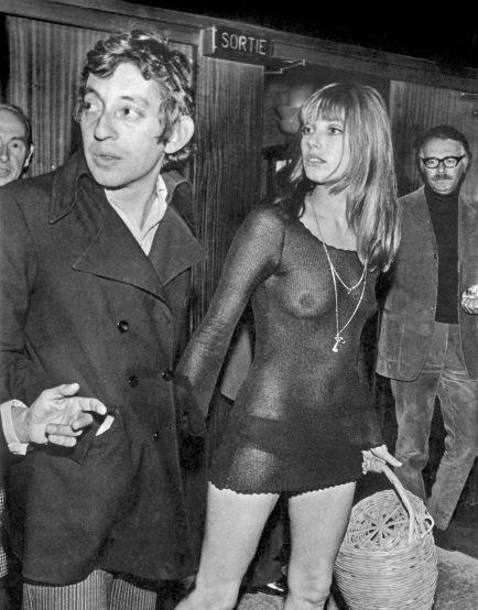 Jane Birkin e Serge Gainsbourg na Premiere do filme